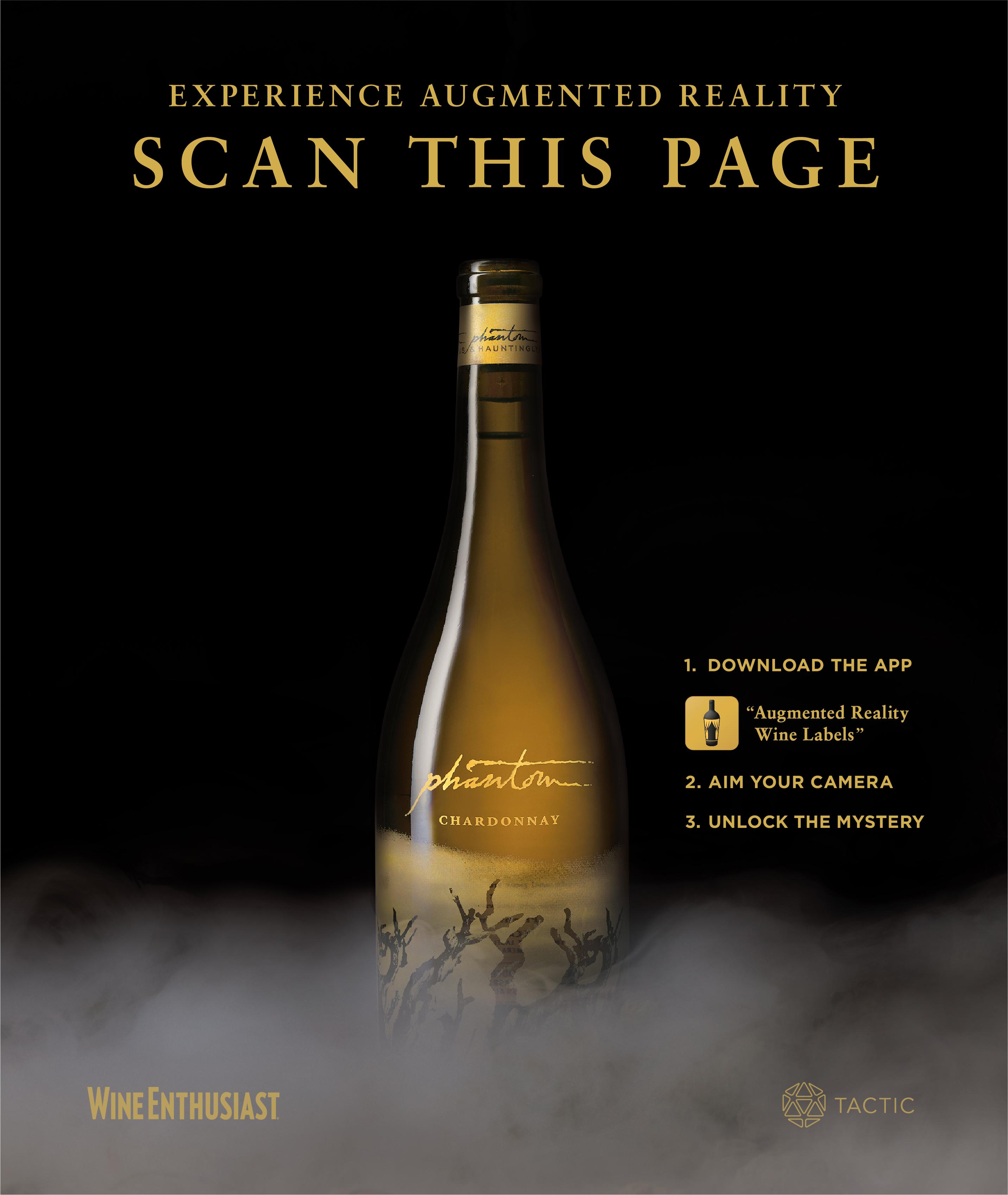 Phantom augmented reality wine bottle